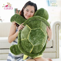 huge pillows 2019 - Huge Size Plush Tortoise Toy Cute Turtle Plush Pillow Stuffed Cushion for Girls Vanlentine's Day Gift cheap huge pi
