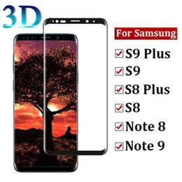 $enCountryForm.capitalKeyWord NZ - 3D Curved Full Cover Tempered Glass Phone Screen Protector HD Ultra Clear 9H Full Coverage Film For Samsung S9 S8 plus S7 S6 Edge Note 8 9