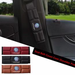 Caso de Cobertura de Cinto de Assento de carro Ombro Almofada para Volkswagen VW Polo Golfe 3 Besouro MK2 MK3 MK3 MK5 MK5 Bora CC Passat Vermelho Preto Marrom Memória Algodão venda por atacado