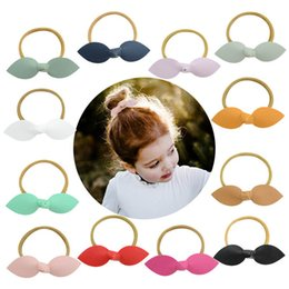 $enCountryForm.capitalKeyWord Canada - Hot sale Pu leather bows girls hair ties sweet Childrens Hairbands cute hair bows kids HairBand baby designer hair accessories A4751