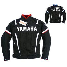Ride Gps Australia - Free shipping Moto GP Motorcycle Racing Clothes Summer Mesh Riding Driving Motorbike Clothing Yamaha Jacket With Protectors