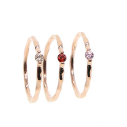 $enCountryForm.capitalKeyWord UK - White Pink red stone Wedding Rings for women Jewelry Rose Gold color engagement Rings female Anel bijoux party gift top quality