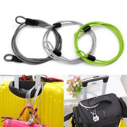 Cable Ends Australia - 1pc 100cm*0.4cm Mini Cycling Sport Security Loop Cable Lock Bike Bicycle Scooter Double Ended U-Lock Steel Rope Lock #689300
