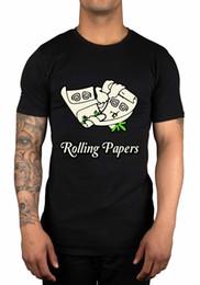 Brown Paper Rolls Australia - Rolling Papers Graphic T-Shirt Wiz Khalifa Taylor Gang We Dem Boyz Loud Gift Funny 100% Cotton T Shirt Brand shirts jeans Print