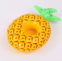 pineapple cups UK - 2019 Inflatable Toy Pineapple Cup Holder Cup Holder PVC Inflatable Water Cola Beverage Cup Holders Toys
