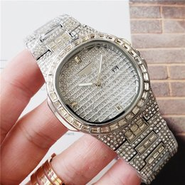 ice gems NZ - Wholesale Fashion Mens Women Luxury Watch PP Diamond Iced Out Watches Stainless Steel Designers Quartz Movement Wristwatch Lady Watch Clock
