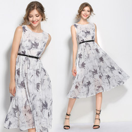 Wholesale plus size sleeveless chinese dress for sale - Group buy Plus Size Chinese Style Print Sleeveless Slim Tunic Midi Dress Women Elegant Party Fashion Sexy Dress Summer Sundress Clothing