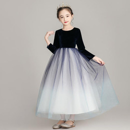 Wholesale sequin briefs online – Flower Girls Long Dress Kids Girl Sequin Tulle Runway Dresses Princess Birthday Party Wedding Dress Vestidos Children Clothing S404
