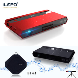 Projector Remotes NZ - 2019 New H96 MAX Portable Projector Android6.0 2+16G S912 H.265 2.4 5G WIFI Bluetooth Speaker Voice Remote Control Mini Projector