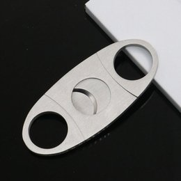 small cut cutter NZ - Stainless Steel Small Cigar Tobacco Cutter Knife Double Blades Cigar Cutter Scissors Cut Tobacco Cigar Devices