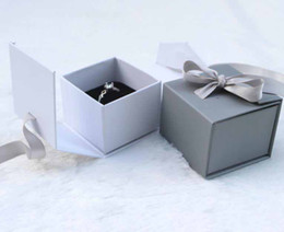 Stud Cases Australia - Fashion Jewelry Gift Bow Ribbon Paper Box Ring Necklace Ear Stud Wedding Boxes Jewelry Storage Case Jewelry Organizer Gift