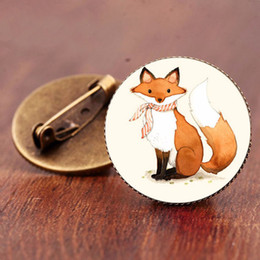 $enCountryForm.capitalKeyWord Australia - Vintage Jewelry High Quality galss dome Anime brooch Fox brooches for women 2019 Factory Fast Delivery Gift