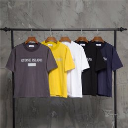 Reflected Light Australia - 19ss Paris Stone Lovers Cotton Tshirts Printing SI reflect light Short Sleeve Summer Tee Breathable Vest Shirt Streetwear Outdoor Tshirt