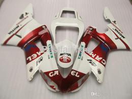 1999 yamaha r1 white fairing kit online shopping - ZXMOTOR Free custom fairing kit for YAMAHA R1 red white fairings YZF R1 HG25