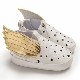 $enCountryForm.capitalKeyWord Australia - Ins gold angel's wings baby shoes casual toddler shoes pu leather infant shoes newborn shoe Moccasins Soft Baby First Shoe A6777