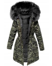 2020 Women Winter Jacket Hooded Parkas Winter Coat Women Loose Parka Fur Collar Cotton Padded Jackets Slim