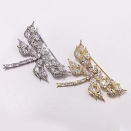 $enCountryForm.capitalKeyWord Australia - Fashion Full Diamond Rhinestone Brooches Womens Hot Luxury Dragonfly Brooches Designer Gold Silver Brooch Girls Hip Hop Jewelry Lover Gift