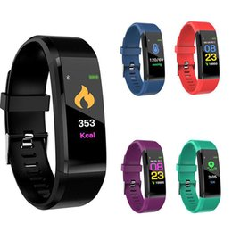 Watch bt online shopping - 115 plus Fitness Tracker Smart Bracelet BT Color Display Sports Watch Heart Rate Blood Pressure Monitor Pedometer Step Calorie Counter