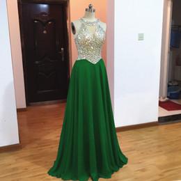 $enCountryForm.capitalKeyWord Australia - Royal Blue Long Evening Dresses 2019 cheap prom Dresses With stones Chiffon Floor Length formal party dresses robe de soiree