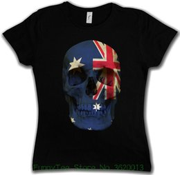 $enCountryForm.capitalKeyWord NZ - Women's Tee Classic Australia Skull Flag Damen T-shirt Flagge Totenkopf Fahne Australien European Style Hip Hop S-xl
