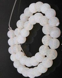 White Onyx Australia - WHITE 4MM 8mm 6MM 10MM Weathered Agates Natural Stone Beads Frost Onyx Round Loose Beads DIY Necklace Bracelet Earrings DIY Jewelry Making