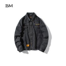 $enCountryForm.capitalKeyWord NZ - japanese streetwear jean jacket men denim jackets high quality cowboy coat 2019 hip hop High street korean style clothes
