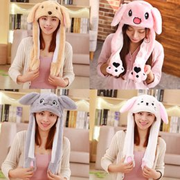 $enCountryForm.capitalKeyWord NZ - 2019 New Style Fashion Hot Funny Plush Animal Ear Hat Cap With Airbag Beanies Cartoon Cute