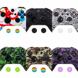gaming controller accessories UK - KL9A1 Muti Color Anti-slip Soft Silicone Controller Skin Protective Case Cover Skin Sleeve For XBox Rubber S One Gaming Accessories