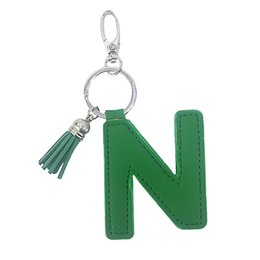 $enCountryForm.capitalKeyWord Australia - PU artificial leather letters key chain pendant ladies bag car keys creative accessories small gifts