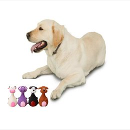 wireless bells UK - Dog Toy Pet Chew Rubber Bell Squeaky Sound Toys For Dog Funny Games Interactive Bone Doggy Toy Dog Production