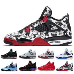 ea6f802aa13 2018 Barato Venta Nike air jordan retro 4 IV Zapatillas de baloncesto  Zapatillas deportivas Hombre 4s NEGRO MOTORSPORT JUEGO ROYAL AZUL Zapatos