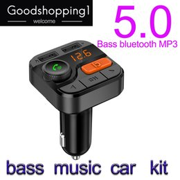 $enCountryForm.capitalKeyWord Australia - Bass music Bluetooth 5.0 FM Transmitter Modulator Bass Music Handsfree Car Kit Radio MP3 Player Support TF Card U-disk USB Charger free ship