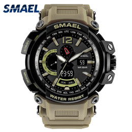 Men S Big Watch Australia - NEW Military Watch Waterproof 50M S Shock Resitant Sport Watches saat Digital Clock Men Military Army 1702 Big Men Watch Sport