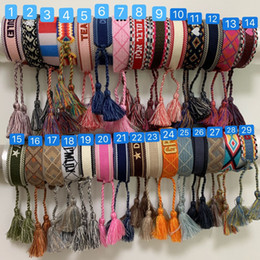 Wholesale DIB1 fashion brand JA Braided hand strap Hand rope bracelet Wedding Lovers gift Luxury Jewelry