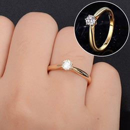 $enCountryForm.capitalKeyWord Australia - Wedding Ring White Gold Gold Rose Gold Austria Crystal Zircon Ring Christmas Gift For Women Wedding Jewelry Rings Wholesale