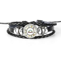 $enCountryForm.capitalKeyWord Australia - Hot Sale 12 Constellations Zodiac Libra Time Gem Glass Jewelry Leather Rope Beaded Wrap Charm Bracelet For Women Men Female Male Couple Gift
