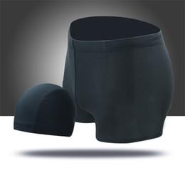 Xxxl Wholesale Clothing Australia - Men Swimming Clothes Trunks + Hat Two Piece Swimwear Bathing Suit Swim Shorts Underwear L-XXXL