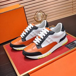 $enCountryForm.capitalKeyWord Australia - Mens Shoes Casual Trail Sneaker In Calfskin Men Shoes Big Size Leather and Rubber Sole R55 Fashion Luxury Shoes Mens Footwear Chaussures