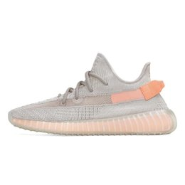Discount low cut mens brown boots - 2019 Authentic Kanye West Boots Clay Hyperspace Running Shoes Mens Women Sport Sneakers Zebra Cream Whtie Bred Butter Wi