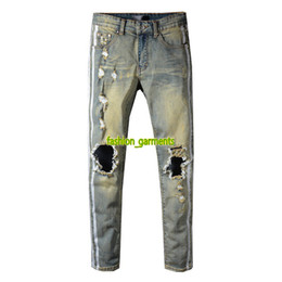 f0aa62f394157 Levis jeans online shopping - Brand New Mens Distressed Ripped Biker Jeans  Casual Trousers Slim Fit