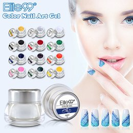 acrylic paint gel nails Australia - uv Elite99 3D Nail Art Paint Draw Painting Acrylic UV Gel 12 Color Choosable Glitter Builder False Tips Nail Art Polish