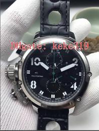 $enCountryForm.capitalKeyWord Australia - Excellent High quality Wristwatches U-B Leather Bands Strap 50mm Black PVD Coating VK Quartz Chronograph Working Mens Watch Watches