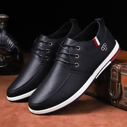 SneakerS driving online shopping - Leather Shoes Men Brand Fashion Black Blue Casual Shoes Men Sneakers Male Driving office Work zapatos de hombre