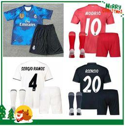 18 19 madrid kids boy kit Soccer Jersey Benzema ASENSIO football Modric  Kroos Sergio Ramos Bale Marcelo 2018 2019 Real shirts ab4a1e26e