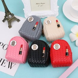 $enCountryForm.capitalKeyWord Australia - Fashion Women Mini Lipstick Coin Bag Multifunction Small Wallet Hand Pouch Purse Key Chain Keyring Hot New Design 5 Colors