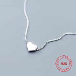 $enCountryForm.capitalKeyWord Australia - 925 silver tiny charm design heart shaped necklaces silver pendant necklace sweet Valentine's Day girlfriend gift China jwellery