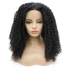 90644b02993 KinKy curly half wigs online shopping - Afro Kinky Curly Lace Front Wig  Black Hair Heat