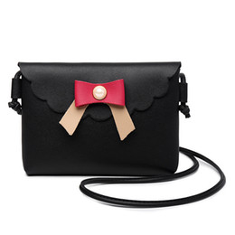 $enCountryForm.capitalKeyWord UK - Decent2019 Bow Lovely Sweet Ma'am Single Shoulder Package Oblique Satchel Mini- Small Bag Tide