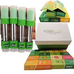 Copper metal box online shopping - New Smartbud Atomizers Copper Tips Vape Cartridges ml Magnetic Display Box Organic Smart Carts Empty Vaporizer Ceramic Coil Vape pen