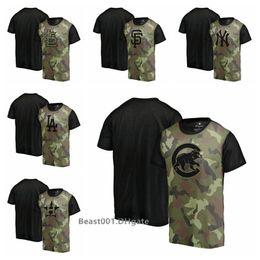 Großhandel Männer Kardinäle Yankees Fanatics Giants Dodgers Astros Cubs Red Sox Grün Memorial Day Camo Blast Sublimiertes T-Shirt